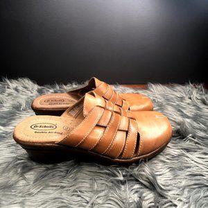 Dr Scholl's Brenna Double Air Pillo Tan Clogs Shoe